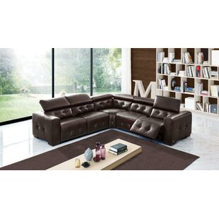 Bulkley Leather Reclining Sectional