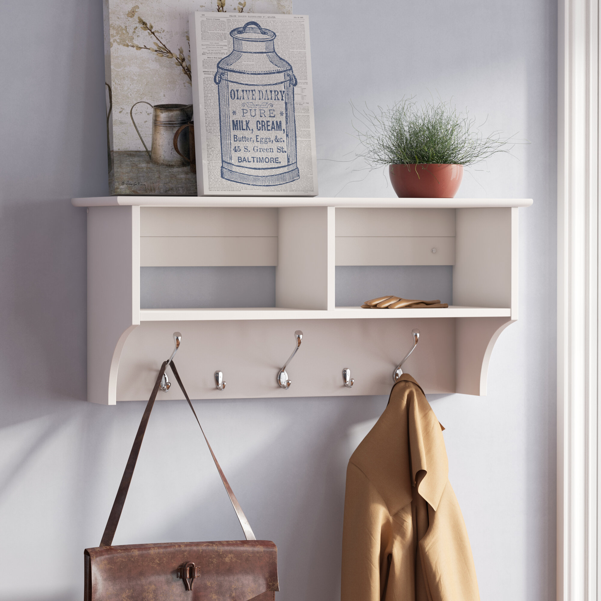on diy for the connected rack picture frames sprucing with three by coat white wall wooden dazzling up black your shelf hangers interior it