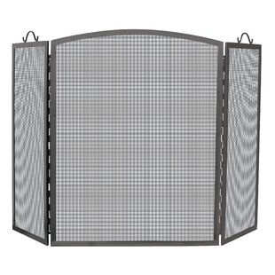 Olde World 3 Panel Iron Fireplace Screen by Uniflame Corporation