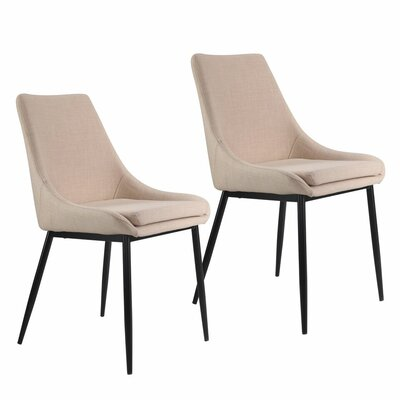 Tremendous George Oliver Mccartney Upholstered Dining Chair Color Cream Pdpeps Interior Chair Design Pdpepsorg