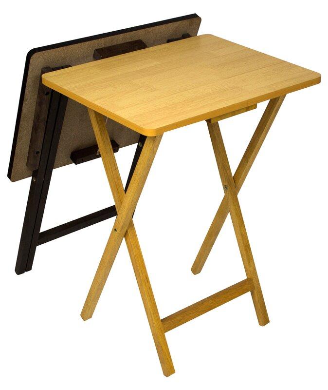 Andover Mills Ivana Folding Tv Tray Table Set Reviews Wayfair