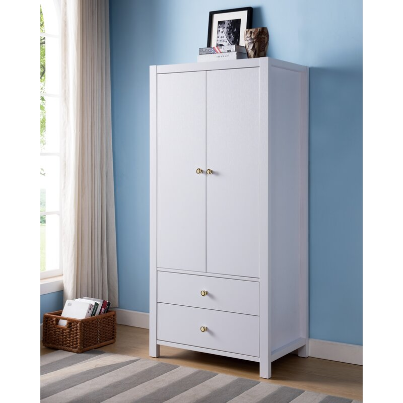Alexia Wooden Storage Cabinet Wardrobe Armoire
