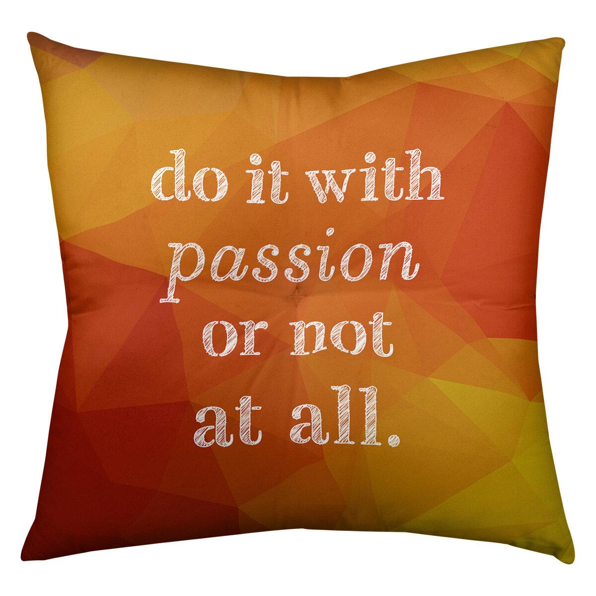 East Urban Home Passion Throw Pillow Wayfair