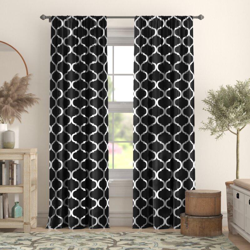 Red Barrel Studio Norvin Geometric Room Darkening Thermal Rod Pocket Curtain Panels Reviews Wayfair