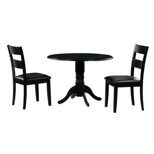 Payton 3 Piece Drop Leaf Solid Wood Dining Set by Alcott Hill 2019 Sale