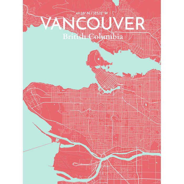 Ourposter vancouver city map graphic art print poster in vancouver city map graphic art print poster in maritime gumiabroncs Gallery