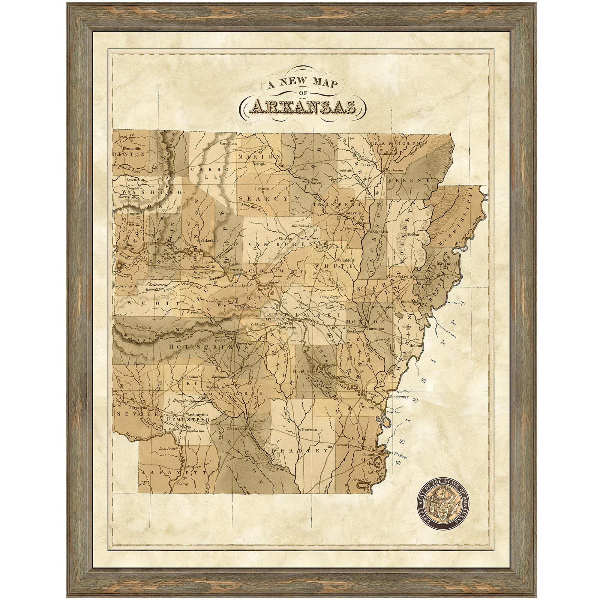 This is a graphic of Printable Map of Arkansas with regard to elementary student maps