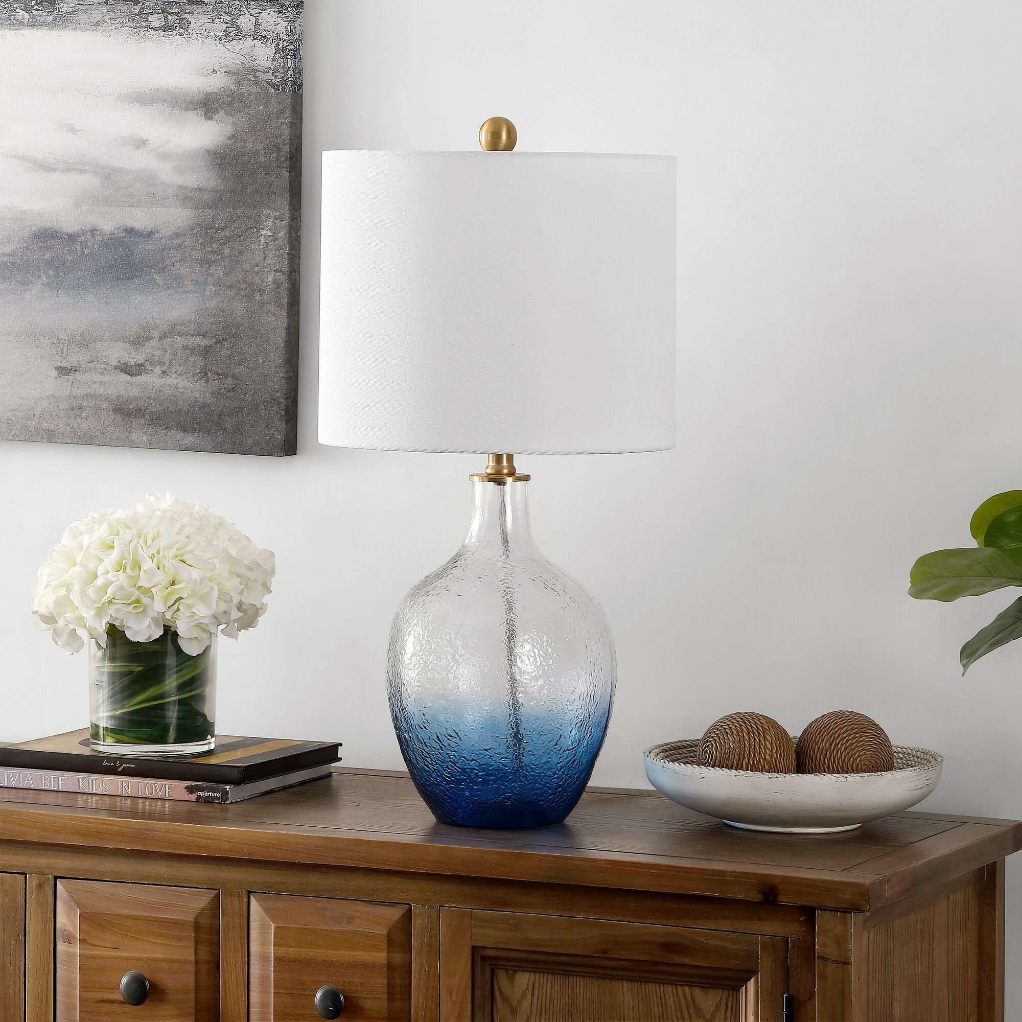 Rosecliff Heights Westcott 23 75 Ombre Blue Table Lamp Wayfair