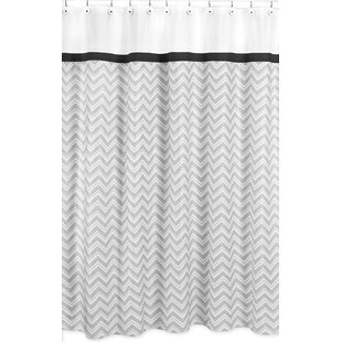 Zig Zag Cotton Single Shower Curtain