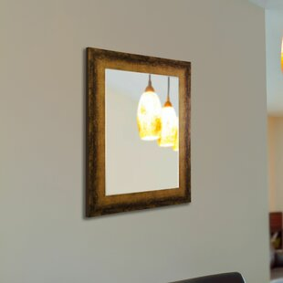 Affordable Price Contemporary Tarnished Bronze Wall Mirror By 17 Stories