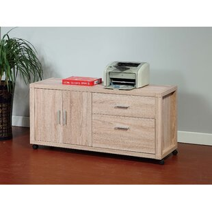 Danyel Wooden 2-Drawer Mobile Lateral Filing Cabinet