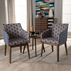 eric midcentury modern 3 piece lounge chair and side table set - Mid Century Lounge Chair