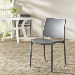 Addie Stacking Patio Dining Chair (Set of 2) by Zipcode Design
