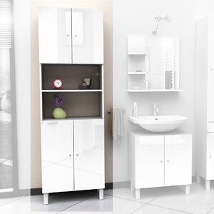 60 x 190cm free standing tall bathroom cabinet