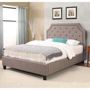 Willa Arlo Interiors Lamar Nailhead Trim Upholstered Platform Bed