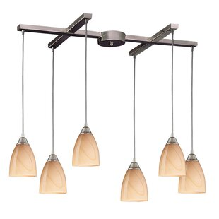 Frostia 6-Light Cluster Pendant by Latitude Run