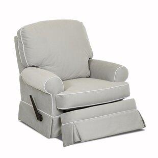 Wayfair Custom Upholstery™ Bingham Swivel Glider Recliner with Contrasting Welt