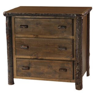 Hickory 3 Drawer Chest by Fireside Lodge Best Design