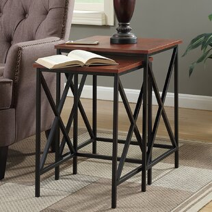 Reviews Creeksville 2 Piece Nesting Tables By Andover Mills