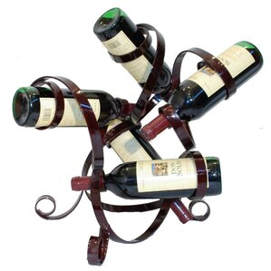 5 Bottle Tabletop Wine Rack by Metrotex Designs
