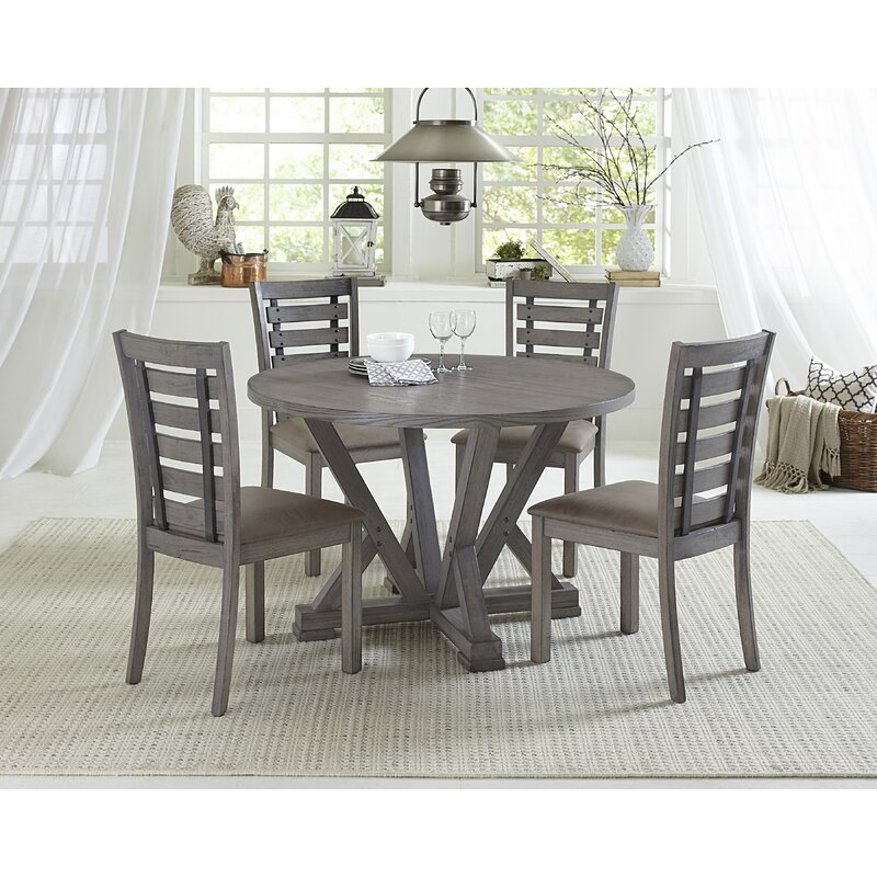 Bosley 5 Piece Solid Wood Dining Set Reviews Joss Main
