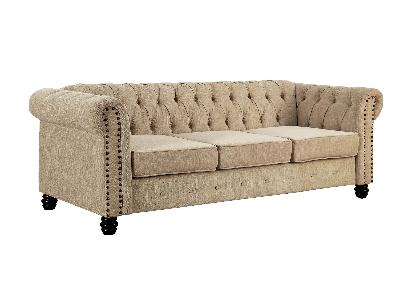 Alcott Hill Bowley 81 Wide Rolled Arm Chesterfield Sofa Reviews Wayfair