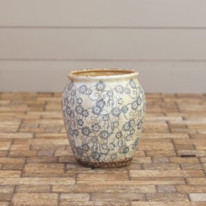 julienne round ceramic pot planter