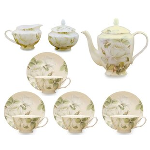 Abington 11 Piece Bone China Iceberg Tea Set