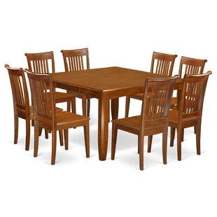Wooden Importers Parfait 9 Piece Extendable Dining Set