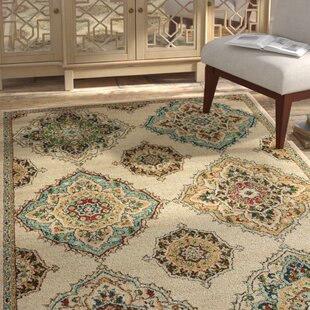 Hedberg Medallions Beige/Green Indoor/Outdoor Area Rug