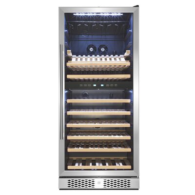 53 Bottle Touch Panel Double Zone Freestanding Wine Cooler AKDY