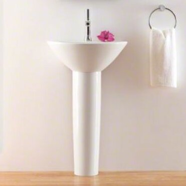 "Parigi Ceramic 20"" Pedestal Bathroom Sink"