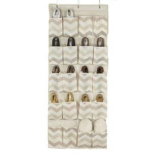 Inexpensive Textured Chevron 20 Pair Overdoor Shoe Organizer ByMacbeth Collection