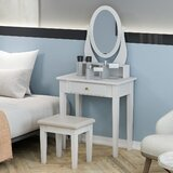 Mystique Vanity Set with Stool and Mirror by Winston Porter