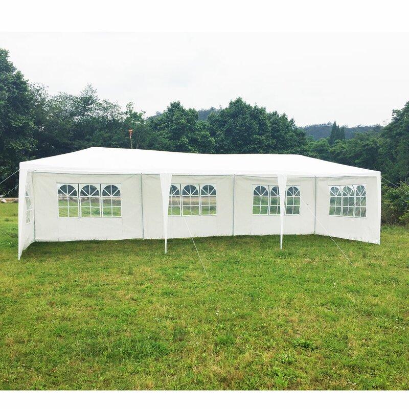 Ubesgoo 29 5 Ft W X 10 Ft D Metal Party Tent Wayfair