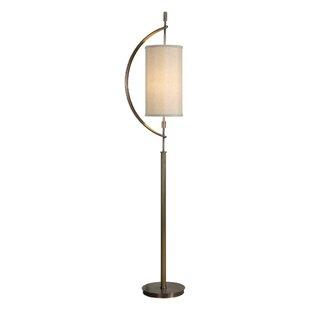 Baldwin brass floor lamps wayfair nichol antique brass 66 floor lamp aloadofball Image collections