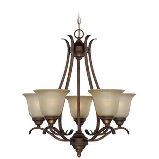 Darby Home Co Pottersmoor 5-Light Shaded Chandelier