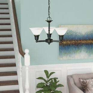 Darmstadt 3-Light Shaded Chandelier by Three Posts