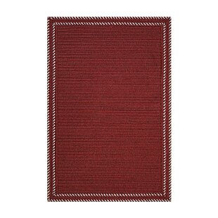 Kristofer Horizon Braids Hand-Braided Red Indoor/Outdoor Area Rug By August Grove