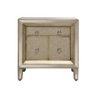 Monroy Mirrored 2 Door Accent Cabinet by House of Hampton