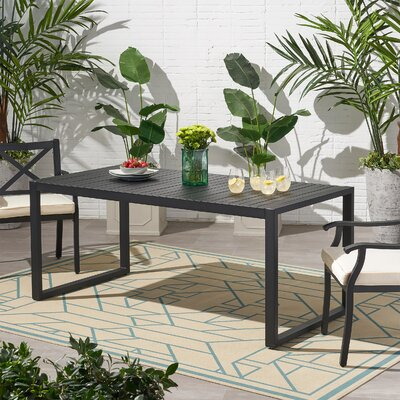 Jaren Aluminum Dining Table by Wrought Studio Wonderful