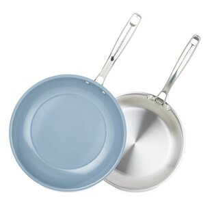 Chopped Champion 3-Ply Ceramic 2 Piece Non-Stick Frying Pan Set