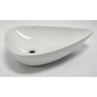 EAGO Tear Drop Specialty Ceramic Specialty Vessel Bathroom Sink