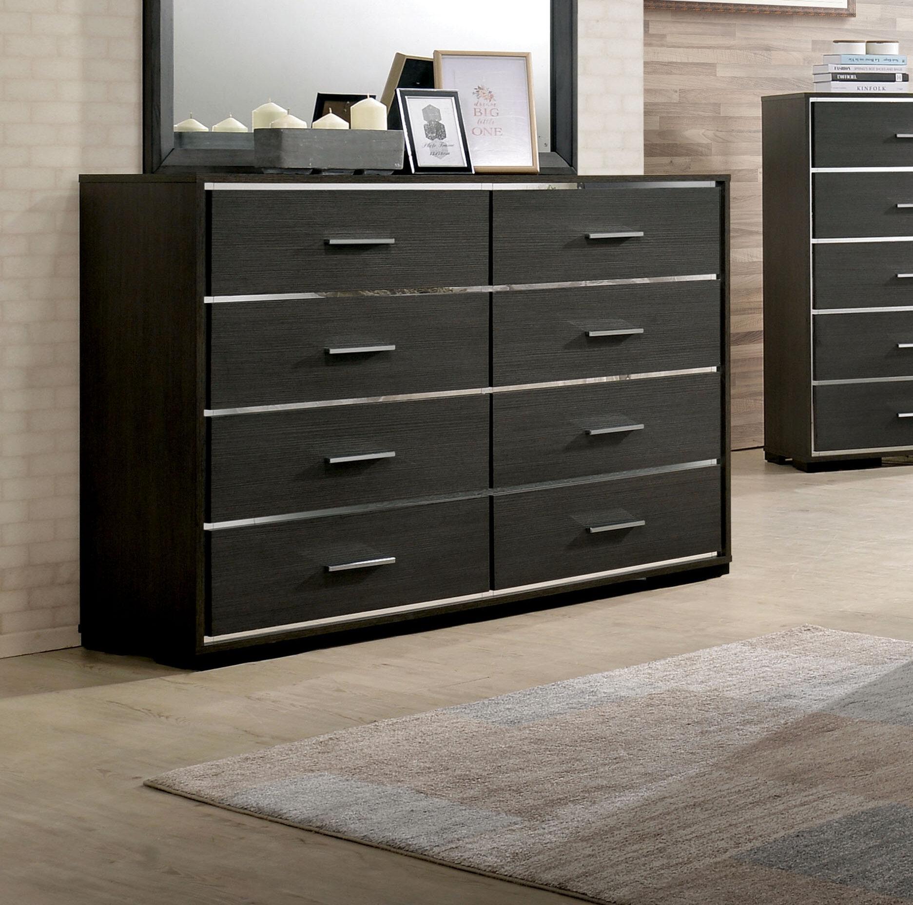 Orren Ellis Addyson 8 Drawer Double Dresser Reviews Wayfair