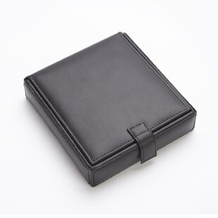 Reviews Royce Leather Men's Cufflink Watch and Jewelry Travel Valet Box in Leather with Suede Lining By Royce Leather