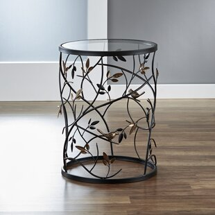 Large Barrel Table with Leaves and Removable Glass Top by InnerSpace Luxury Products