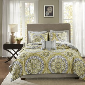 Almerton Complete Coverlet and Cotton Sheet Set