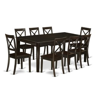Forada 9 Piece Extendable Solid Wood Dining Set