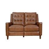 Groff Genuine Leather Reclining 52 Square Arm Loveseat by Corrigan Studio®