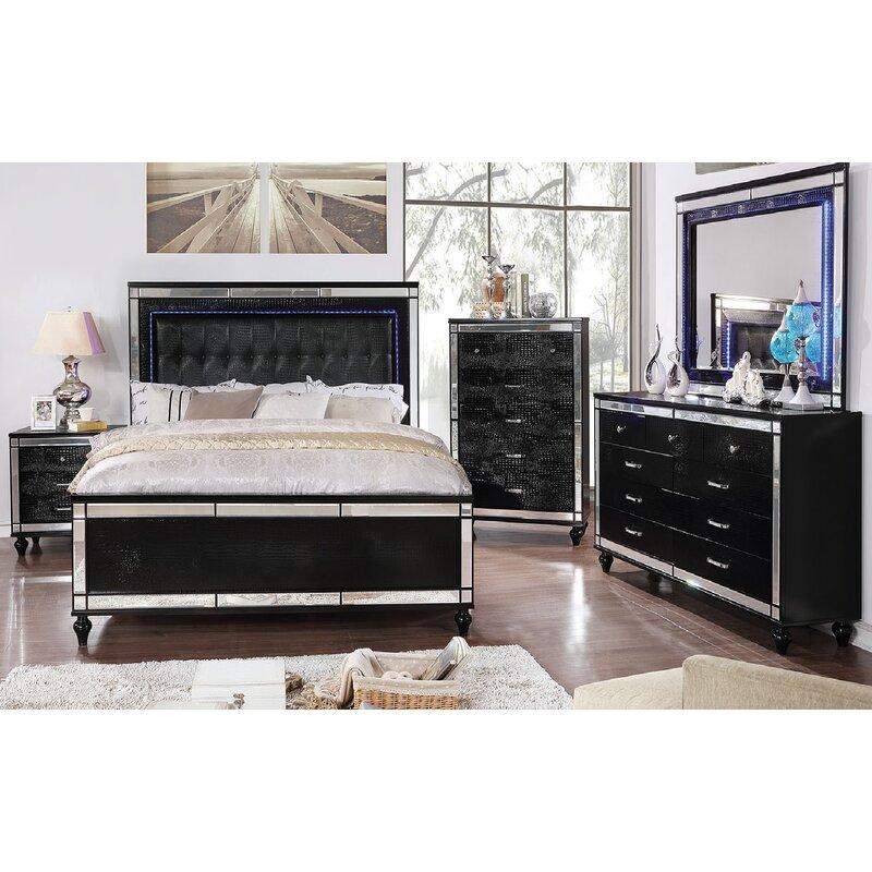 Everly Quinn Havana Upholstered Standard Bed